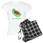 Plays With Frogs Women's Light Pajamas