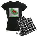 Plays With Frogs Women's Dark Pajamas