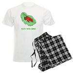 Plays With Frogs Men's Light Pajamas