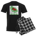 Plays With Frogs Men's Dark Pajamas