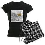 Half Glass Of Beer Women's Dark Pajamas