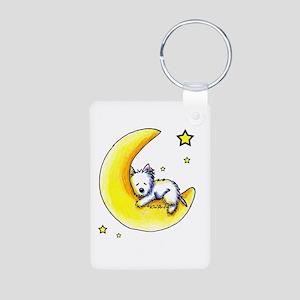 Lunar Love Aluminum Photo Keychain