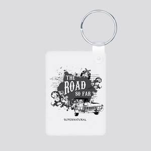 SUPERNATURAL The Road black Aluminum Photo Keychai