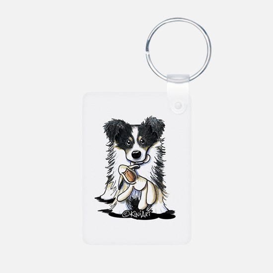 Tri-Color Border Collie Keychains