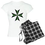 Green Maltese Cross Women's Light Pajamas