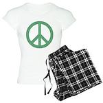 Green Peace Sign Women's Light Pajamas