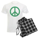 Green Peace Sign Men's Light Pajamas