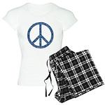 Blue Peace Sign Women's Light Pajamas