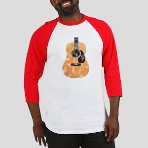 Acoustic Guitar (worn look) Baseball Jersey