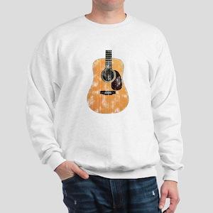 Acoustic Guitar (worn look) Sweatshirt