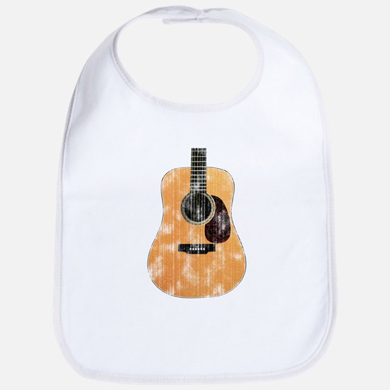Acoustic Guitar (worn look) Bib