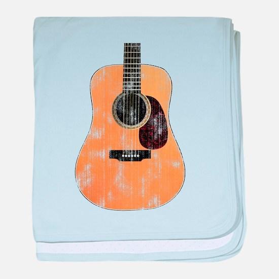 Acoustic Guitar (worn look) baby blanket