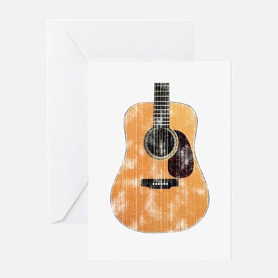 Acoustic Guitar (worn look) Greeting Card