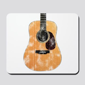 Acoustic Guitar (worn look) Mousepad
