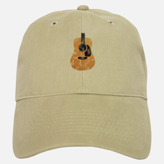 Acoustic Guitar (worn look) Baseball Baseball Cap