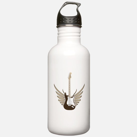 Winged Electric Guitar Water Bottle