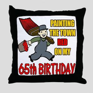 65th Birthday Throw Pillow