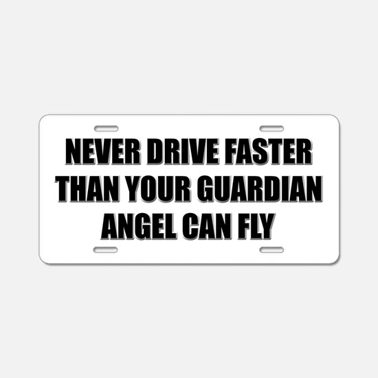 Guardian Angel Aluminum License Plate