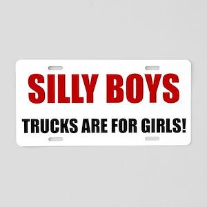 Trucks Are For Girls Aluminum License Plate