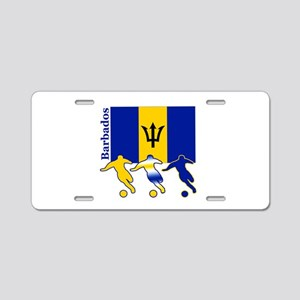 Barbados Soccer Aluminum License Plate