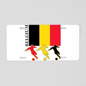 Belgium Soccer Aluminum License Plate