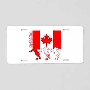 Canada Soccer Aluminum License Plate