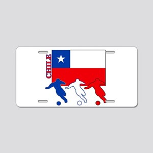 Soccer Chile Aluminum License Plate