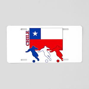 Soccer Chile Aluminum License Plate