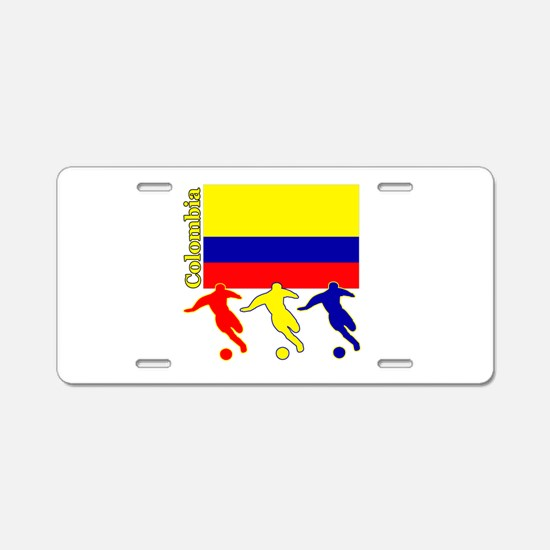 Colombia Soccer Aluminum License Plate