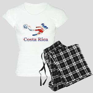 Costa Rica Soccer Player Women's Light Pajamas