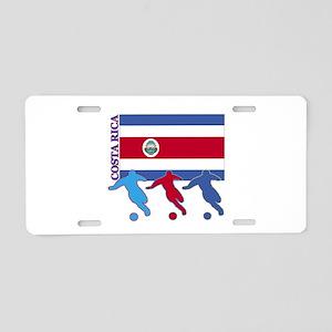 Costa Rica Soccer Aluminum License Plate