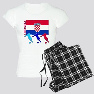 Croatia Soccer Women's Light Pajamas