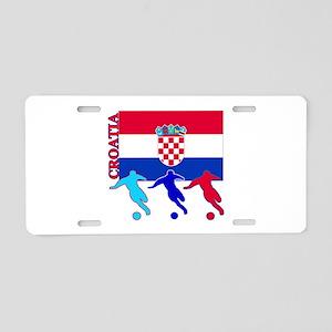 Croatia Soccer Aluminum License Plate