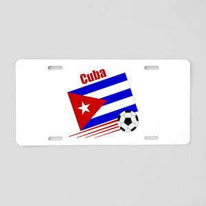 Cuba Soccer Team Aluminum License Plate