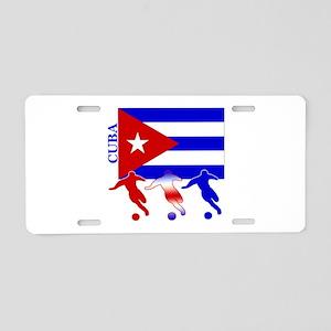 Cuba Soccer Aluminum License Plate