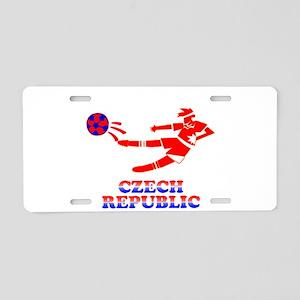 Czech Soccer Player Aluminum License Plate