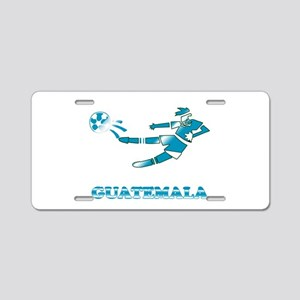 Guatemala Soccer Player Aluminum License Plate