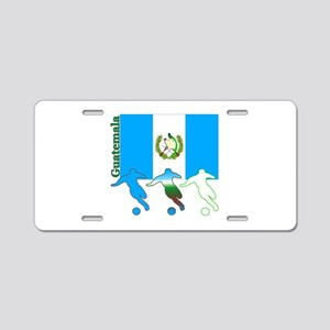 Guatemala Soccer Aluminum License Plate