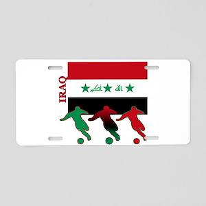 Iraq Soccer Aluminum License Plate