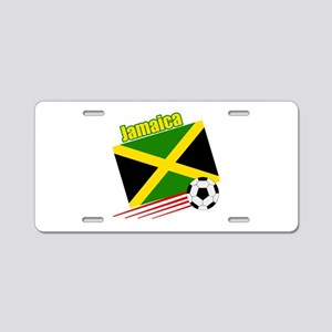 Jamaica Soccer Team Aluminum License Plate