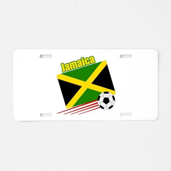 Jamaica Soccer Team Aluminum License Plate