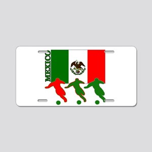 Soccer Mexico Aluminum License Plate