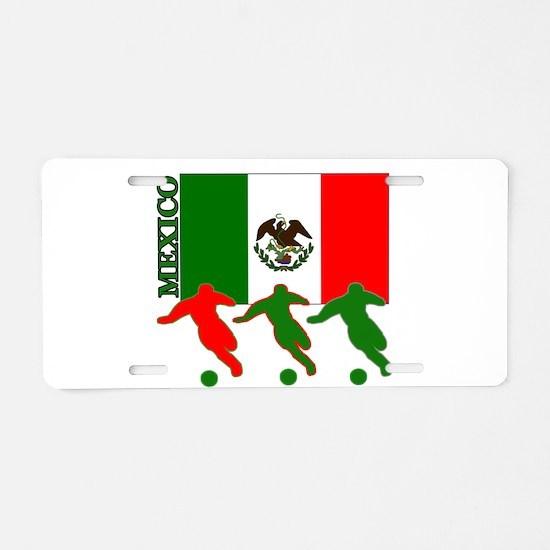 Soccer Mexico Aluminum License Plate