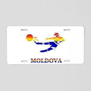 Moldova Soccer Player Aluminum License Plate