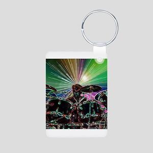 Starburst Drum Rocker Aluminum Photo Keychain