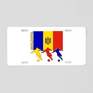 Moldova Soccer Aluminum License Plate