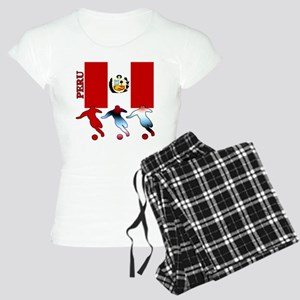 Peru Soccer Women's Light Pajamas