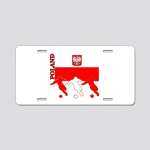 Poland Soccer Aluminum License Plate