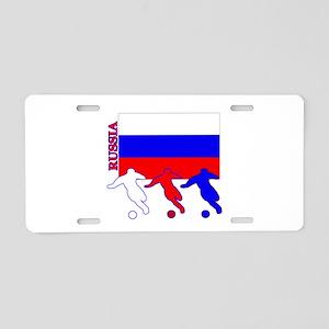 Russia Soccer Aluminum License Plate