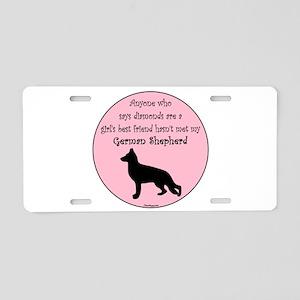Girls Best Friend - GSD Aluminum License Plate